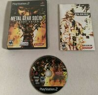 Metal Gear Solid 3: Snake Eater (Sony PlayStation 2, 2004) Complete Condition