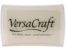 White VersaCraft Ink Pad Rubber Stamp Fabric, Wood, Paper, Clay, Shrink Plastic