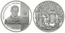 2002 Poland Silver Proof 10 ZL Malinowski-anthropologist/Pacific Ocean Natives
