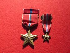 Bronze Star medal medal  Ribbon Bar  Mini medal