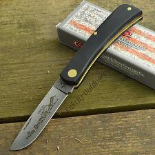 Case XX Black Synthetic Handle Sod Buster Jr Folding Pocket Knife 00095 2137 SS
