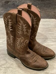 Ariat Womens Heritage Stockman Western Cowboy Boots Size 7.5 Brown Leather