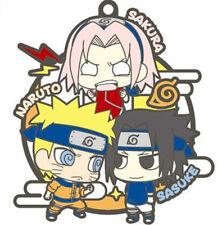 Naruto Three Man Cell Naruto, Sakura, Sasuke Rubber Key Chain Anime Manga NEW