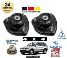 FOR BMW X5 E53 4x4 2000-2006 NEW 2x REAR SHOCKER TOP STRUT RUBBER MOUNTING SET