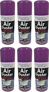 6 X AIR DUSTER SPRAY AEROSOL CANS COMPRESSED CLEAN PROTECTS KEYBOARDS 200ML