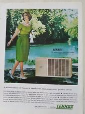 1964 Lennox air conditioning unit Nature's freshness cool quiet Garden crisp ad