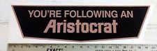 """Vintage Aristocrat large trailer RV sticker decal 20.5""""x5.75"""""""