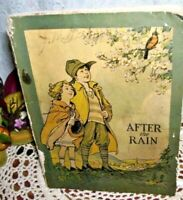 AFTER THE RAIN Cleanliness Customs of Children 1932 BOOK HEALTH & SOCIAL STUDIES