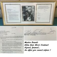 Marlon Brando THE GODFATHER signed movie contract Motorbike Oscar Winner UACC RD