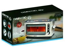 Daewoo SDA1060 900W 2 Slice Transparent Glass Silver Toaster w/ Removeable Tray