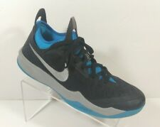 0c0f6a368ff8 Nike Zoom Crusader Men s Black Metallic Silver Vivid Blue Sneakers Shoes  Size 11