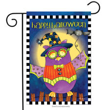 "Halloween Owl Primitive Garden Flag Holiday Costume 12.5"" x 18"" Briarwood Lane"