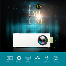 Mini Portable 1080P 3D LED Projector Home Cinema Theater PC Laptop CVBS USB TF