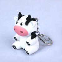 Portable Cow Shape Mini Torch Flashlight Key Ring LED Key Chain Kids Toy