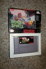 Thunder Spirits (Super Nintendo Entertainment System SNES, 1992) with Box FAIR