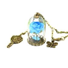 Moda Original colgante botella de cristal de la Rosa Flor