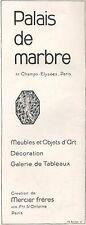 ▬► PUBLICITE ADVERTISING AD Palais de marbre décoration art tableau 1926