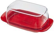 Rosti Mepal Plastique Beurrier Clear with Luna Red Base Mélamine Petit Déjeuner