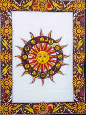Poster Tapestry Round Sun Face Decor Indian Wall Hanging Bohemian Hippie Wall