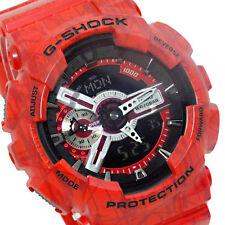 Casio G-Shock Mens Wrist Watch GA110SL-4A GA-110SL-4A Digital-Analog Slash Red