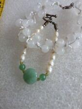 2 Stück ARMBÄNDER Jade und Perle  Neu