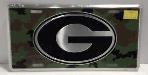 Georgia Bulldogs Camo License Plate Metal Tag Car Auto Officially Licensed
