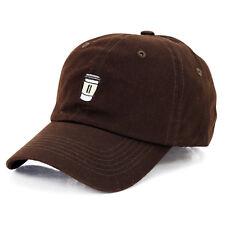 Coffee Mug Embroidered Hat Unisex Cute Adjustable Baseball Cap Vintage Cap