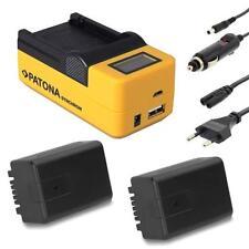 Patona LCD USB cargador + 2x batería para Panasonic hdc-sd60 sd66 sd80 sd90 sd99