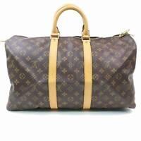 Authentic Louis Vuitton Boston Bag Keepall 45 M41428 Brown Monogram 302550