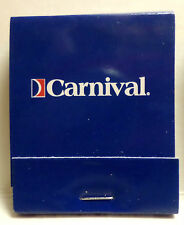 Carnival Cruise Lines . Full Match Book Cruising Ship Ocean Liner Boat c. 2000