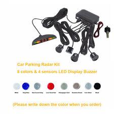 Car Parking Radar Kit 4 Sensors+LED Display Buzzer Backup Reverse DC12V 8 Colors
