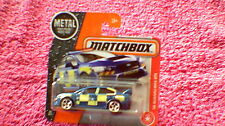Matchbox (UK Card) - 2017 - #60 '15 Subaru WRX STi Police - Met Blue & Yellow
