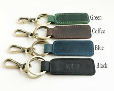 Christmas gift -Personalized Engraved Embossed Custom Genuine Leather keychains