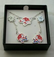 Marvel Comics Kawaii Spider-Man Necklace Pendant & Earring Set New Box