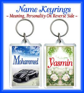 Name Keyrings Any Name Meaning Arabic/Muslim/Islamic Personalised Gifts Eid