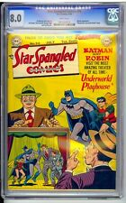 STAR SPANGLED #94  CGC 8.0  VF  BRIGHT WHITE PAGES!  BATMAN COVER!  COOL BOOK!