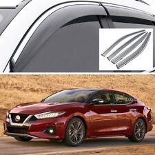 Car Window Visor Vent Deflector Sun/Rain Guards Set for Nissan Maxima 2016-2020