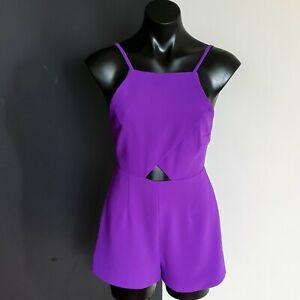Women's size 8 'BEC & BRIDGE' Gorgeous purple peek a boo playsuit - AS NEW