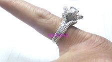 2.60ct Engagement 925 Silver Off White RoundCut Moissanite Diamond Designer Ring