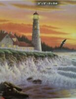 The Guiding Light Lighthouse Puzzle by Michael Ross Matherly 550 pcs. 24x18 new