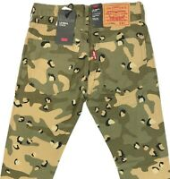 NWT Levis Lo-Ball Stack Leopard Camo 4-Way Ripped Slim Tapered Jeans Mens Sizes