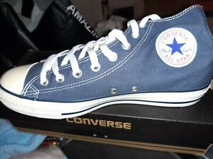 CONVERSE WOMENS BLUE SPOT HI TOP TRAINERS BNIB UK 8 EU 41.5