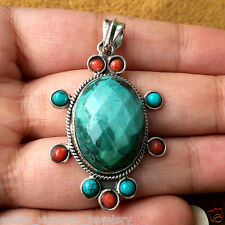 Vintage Estate Antique Gemstone Sterling Silver Mind Blowing Jewelry Pendant