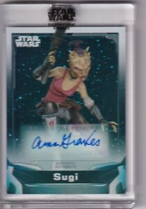 2021 TOPPS STAR WARS SIGNATURES SERIES AUTO AUTO ANNA GRAVES as SUGI SP