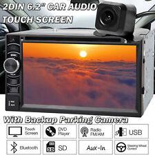 For BMW HD 6.2'' 2Din Car Stereo Radio MP3 Player Head Unit + Rear Backup Camera