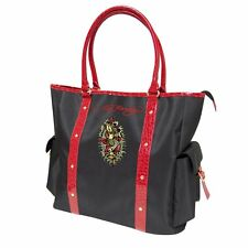 ED HARDY RED & BLACK MERMAID LADIES  HANDBAG / TOTE BAG *NEW