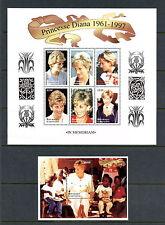 Gabon 1998  #908-9   Diana sheets    MNH  H132