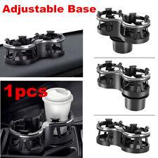 Black ABS Car Center Console Dual Cup Holder Drinking Bottle Holder Adjustable