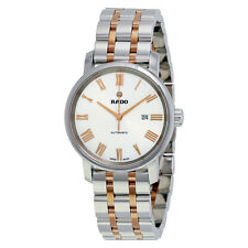 Rado White Dial Two Tone Stainless Steel Automatic Ladies Watch R14050123