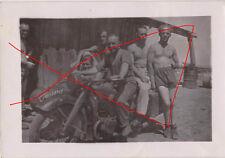 original Foto Russland 1943 Zündapp Motorrad Gespann Luftwaffe